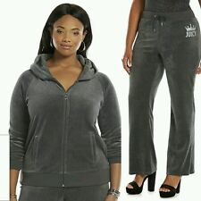 JUICY COUTURE XXL Embellished Velour GRAY Tracksuit (Womens PLUS Size 2X) NWT