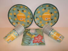 Tropicool Pineapple Party Tableware - 20 Paper Plates, Cups and Napkins