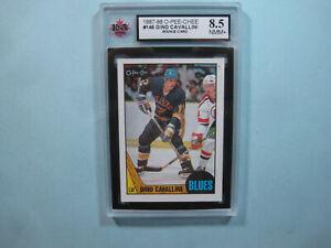 1987/88 O-PEE-CHEE NHL HOCKEY CARD #146 GINO CAVALLINI ROOKIE KSA 8.5 NM/MT+ OPC