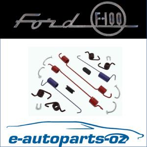 Ford F250 F350 Quality Rear Drum Brake Spring Hardware Kit - 1967 to 1996
