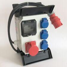 PCE Mobilverteiler Murau 1x CEE 16A,3x Schuko-Steckdose, Fi-Schalter 4p 40A