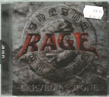 RAGE  -   CARVED IN STONE.   /    IMPORT.   GERMAN PRESSING.   NEW & SEALED.