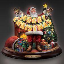 Thomas Kinkade Santas Holiday Wishes Christmas Figurine Music and Lights NEW