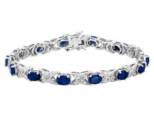 Sapphire Bracelet 2.90 Carat (ctw) in Sterling Silver