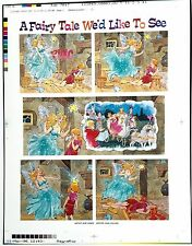 "MAD MAGAZINE ""FAIRY TALE CARTOON"" RARE 1996 PRE-PRESS MATCHPRINT PROOF ART"