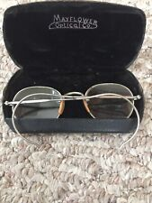 Vintage Pair Of Mayflower Optical Co Wire Rim Glasses