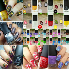 6ml Nail Art Stamping Polish Nail Stamp Design Varnish Manicure Born Pretty