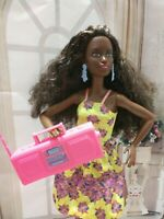 BARBIE DOLL AFRO AMERICAN BLACK FLOWER PRINT DRESS DOLL OUTFIT CLOTHES