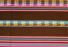 Peru Tischdecke Wandbehang brau bunt 120 x 220 cm Inka Tragetuch Manta extragroß