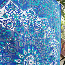 Twin Star Blue Mandala Wall Tapestry Gypsy beach throw hippie Indian Bedspreads