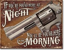"""If Found Here Gun Humor Novelty 2"""" x 3"""" Metal Refrigerator Toolbox Magnet"""