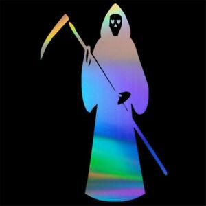 2pcs Reaper Novelty Sticker Car Auto Laptop Window Truck Halloween Vinyl Decal