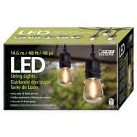 PRE Feit Outdoor Weatherproof String Set 48ft 24 Light Sockets 26 LED Bulbs
