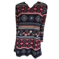 Tunic Tops Plus Size 10 12 14 16 18 20 EVERSUN Red Black Dress Aztec Floral
