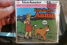 Little Orphan Annie 3D Viewmaster 3 reels tv 1978 packet j 21 cartoon favorite