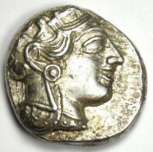 Athens Greece Athena Owl Tetradrachm Silver Coin (454-404 BC) - VF / XF