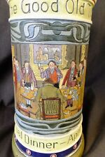 "Antique German  Commemorative  Beer Stein ""Here's to the Good Old Twenty-five"""