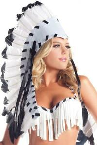 NEW be wicked NATIVE american INDIAN feather headdress POCAHONTAS princess CHIEF