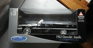 WELLY 1963 CHEVROLET IMPALA CONVERTIBLE 1/24 COLLECTION - BLACK - UNOPENED BOX