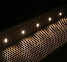 10 LED Boden Einbauleuchten Einbaustrahler Set warm weiss außen 12V LED Strahler