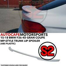 S2 M Sport Performance-Style Trunk Spoiler (ABS) For 14-18 BMW F36 4D Gran Coupe