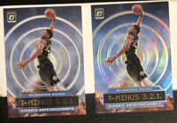 2019 Donruss Optic Giannis Antetokounmpo T-Minus Silver Holo Prizm & Base LOT(2)