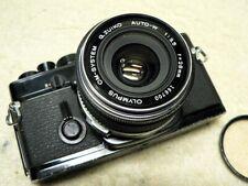 Vintage Olympus OM-1 BLACK 35mm SLR Film Camera w/ 28mm f/3.5 G.Zuiko Wide Lens