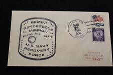 NAVAL SPACE COVER 1966 GEMINI GTA-8 RECOVERY SHIP USS NOA (DD-841) (761)