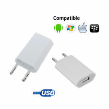 CARGADOR CORRIENTE USB RED DE PARED UNIVERSAL PARA MOVIL ANDROID BLANCO 5V 1A NE