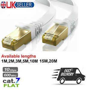 RJ45 Cat7 Ethernet Network Flat Patch Cable Gigabit Internet 1M 2M 3M 5M 10M Lot