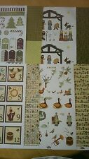 Backing Paper  & Topper Sheets Contemporary Christmas Style