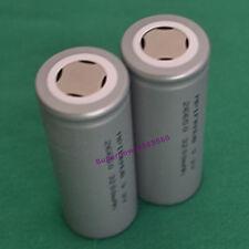 2pc high temperature LiFePO4 Li-ion IFR26650 energy 3200mAh flat battery 3.2V