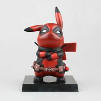 Pokemon Pikachu Deadpool Cosplay Figure Toy Gift Pikapool vinyl Toy with box