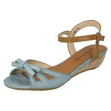 Sandali e scarpe blu per il mare da donna tacco basso ( 1,3-3,8 cm ) , Numero 36