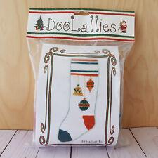 Doolallies Christmas Stocking Knitting Kits ~ Ornaments ~ 100% Wool ~ White