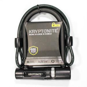 Kryptonite Mini 12mm U-Lock Bicycle Lock & 8mm Looped Bike Security Cable