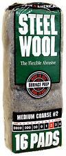 Case Rhodes American Steel Wool Grade 2 - Medium Coarse ~ 6 bags of 16 pads