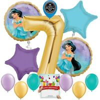 Disney Princess Jasmine Party Supplies Balloon Decoration Bundle 7th Birthday