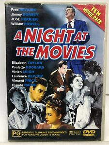 A Night at the Movies - 10 Movies on 4 DVDs - AusPost with Tracking