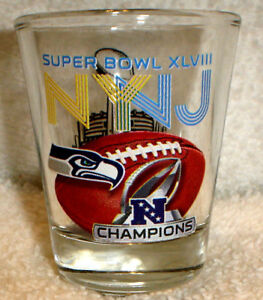 SEATTLE SEAHAWKS SUPER BOWL 48 XLVIII NFC champions CHAMPS shot GLASS NY NJ