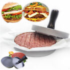 New BBQ Hamburger Patty Maker Grill Press Large Round Burger Metal Mold Kitchen
