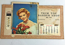 Vintage 1967 Barber Shop Cardboard Photo Calendar Wawota Saskatchewan Canada