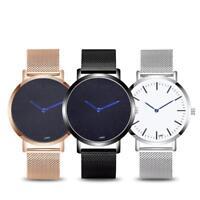 Beiläufige analoge Frauen-Edelstahl-Band-Quarz-Armbanduhren passen neu auf
