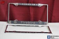 1969 GM License Pontiac Firebird Front Rear License Plate Tag Holder Frames New