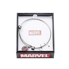 Marvel Stainless Steel Deadpool Logo Charm Bangle Women's Bracelet