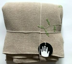 """New Ikea BOTANISK Cushion cover, beige leaf, green handmade 20 x 20 """""""