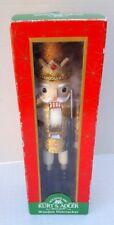 Santa's Old World Kurt S. Adler Wooden Nutcracker Gold Crown King Soldier C3761