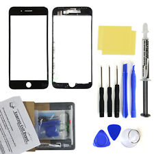 For Black iPhone 8 Front Screen Glass Lens Replacement Kit LOCA glue tool