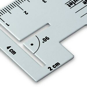 610736 Prym Metallo Alluminio Cucitura Manometro - Sartoria Cucito Imbottitura