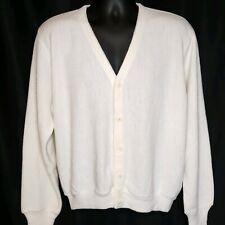 VTG 60's 70's Edwards of California L-XL Cream off White Cardigan Sweater